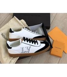 Женские кроссовки Louis Vuitton (Луи Виттон) Frontrow кожаные на шнурках White/Black