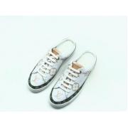 Женские кроссовки Louis Vuitton (Луи Виттон) Frontrow кожаные с открытой пяткойt White