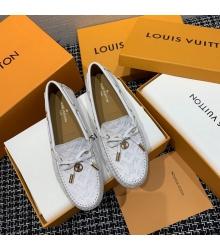 Женские лоферы Louis Vuitton (Луи Виттон) Gloria кожаные с логотипами White