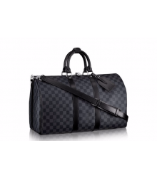 Дорожная сумка Louis Vuitton (Луи Виттон) Grey/Black