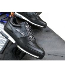 Кроссовки мужские Louis Vuitton (Луи Виттон) Harlem Richelieu из темно серого холста Damier Graphite Black/Gray
