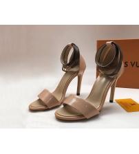 Женские босоножки Louis Vuitton (Луи Виттон) Horizon летние кожаные каблук шпилька Beige