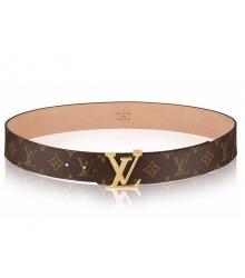 Ремень женский Louis Vuitton (Луи Виттон) Initials Monogram Belt Gold