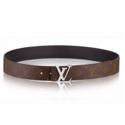 Ремень женский Louis Vuitton (Луи Виттон) Initials Monogram Belt Silver