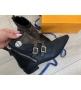 Ботинки женские Louis Vuitton (Луи Виттон) Jumble кожаные с молнией Black/Brown