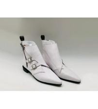 Ботинки женские Louis Vuitton (Луи Виттон) Jumble кожаные с молнией White