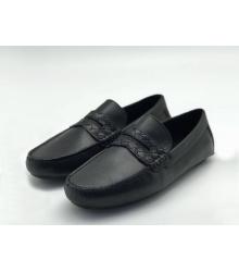 Мужские мокасины Louis Vuitton (Луи Виттон) кожа Black