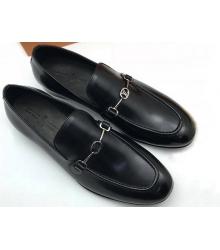 Мужские лоферы Louis Vuitton (Луи Виттон) кожаные Black