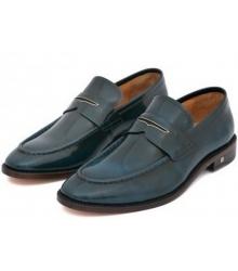 Лоферы мужские Louis Vuitton (Луи Виттон) кожаные Blue