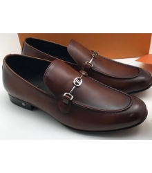 Мужские лоферы Louis Vuitton (Луи Виттон) кожаные Brown