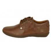 Кроссовки Louis Vuitton (Луи Виттон) кожаные New Brown