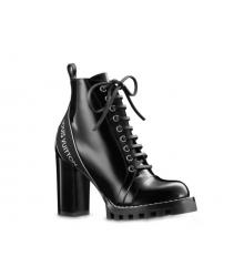 Ботильоны женские Louis Vuitton (Луи Виттон) кожаные Star Trail Ankle Boot Black