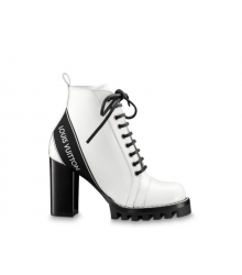 Ботильоны женские Louis Vuitton (Луи Виттон) кожаные Star Trail Ankle Boot White
