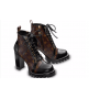 Женские ботильоны Louis Vuitton (Луи Виттон) кожаные Star Trial Brown