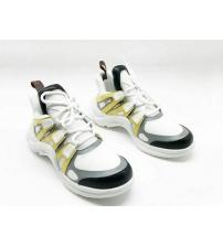 Женские кроссовки Louis Vuitton (Луи Виттон) Archlight White/Gray/Yellow