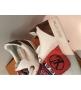 Женские кеды Louis Vuitton (Луи Виттон) Kyoto кожаные на шнурках White/Red