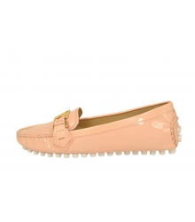 Женские мокасины Louis Vuitton (Луи Виттон) лаковые Pink
