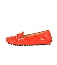 Женские мокасины Louis Vuitton (Луи Виттон) лаковые Red