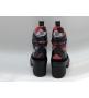 Ботинки женские Louis Vuitton (Луи Виттон) Laureate кожаные на платформе Black/Red
