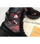 Ботинки женские Louis Vuitton (Луи Виттон) Laureate стильные осенние на платформе Black/Red