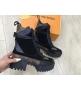 Ботинки женские Louis Vuitton (Луи Виттон) Laureate стильные осенние на платформе Black