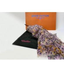 Женский палантин Louis Vuitton (Луи Виттон) LEOPARD с розовым принтом LV шёлк сжатый с хлопком Beige/Pink
