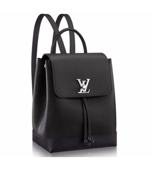 Рюкзак женский Louis Vuitton (Луи Виттон) Lockme Black