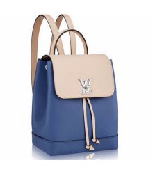 Рюкзак женский Louis Vuitton (Луи Виттон) Lockme Denim Blue