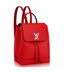 Рюкзак женский Louis Vuitton (Луи Виттон) Lockme Red