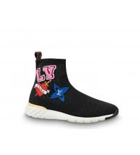 Женские кроссовки Louis Vuitton (Луи Виттон) LV Heart Sock SneakerBoot Black