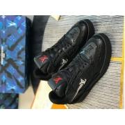 Кроссовки мужские Louis Vuitton (Луи Виттон) LV Trainer кожаные Black
