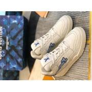Кроссовки мужские Louis Vuitton (Луи Виттон) LV Trainer кожаные White