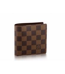 Кошелёк мужской Louis Vuitton (Луи Виттон) Marco Wallet Damier Brown