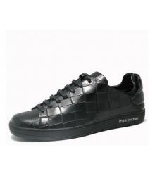 Кеды мужские Louis Vuitton (Луи Виттон) Men's кожаные Black