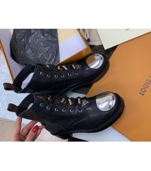 Ботинки женские Louis Vuitton (Луи Виттон) Metropolis кожаные Black