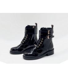 Ботинки женские Louis Vuitton (Луи Виттон) Midtown кожа лаковая с молнией Black