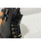 Ботинки женские Louis Vuitton (Луи Виттон) Midtown лаковая кожа с молнией Black