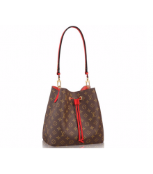 Женская сумка Louis Vuitton (Луи Виттон) Monogram Canvas Neonoe Brown