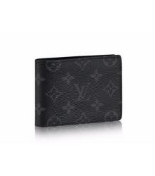 Бумажник мужской Louis Vuitton (Луи Виттон) Monogram Eclipse Black