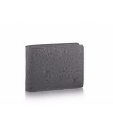 Бумажник мужской Louis Vuitton (Луи Виттон) Multiple Wallet Taiga Black