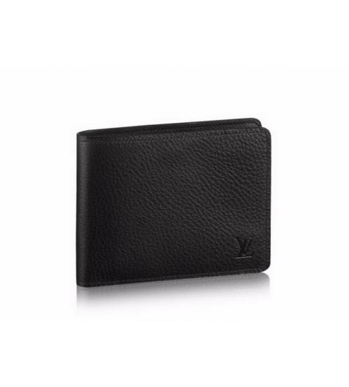 Бумажник мужской Louis Vuitton (Луи Виттон) Multiple Wallet Taurillon Black