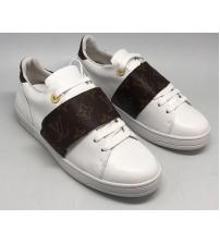 Женские кроссовки Louis Vuitton (Луи Виттон) на липучке Run Away White