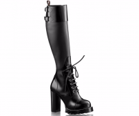 Женские сапоги Louis Vuitton (Луи Виттон) на платформе Star Trial Black