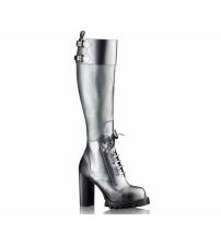 Женские сапоги Louis Vuitton (Луи Виттон) на платформе Star Trial Silver