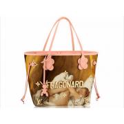 Женская сумка Louis Vuitton (Луи Виттон) Neverfull Masters Rubens Brown