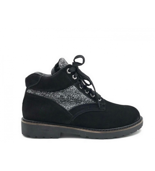 Ботинки женские Louis Vuitton (Луи Виттон) Oberkampf кожаные Black