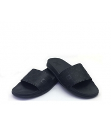 Шлепанцы мужские Louis Vuitton (Луи Виттон) резиновые Black