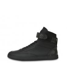 Кроссовки мужские Louis Vuitton (Луи Виттон) Rivoli кожаные Black