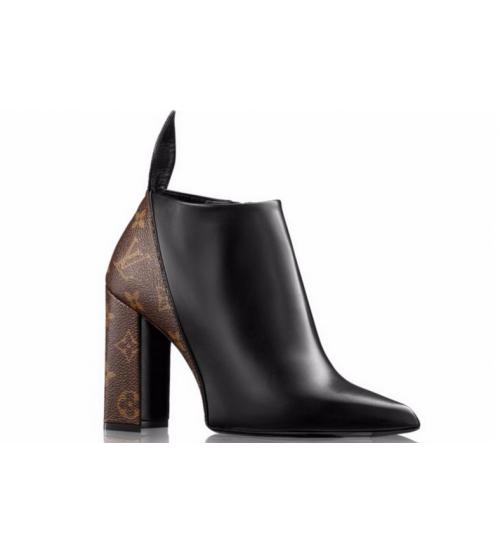 Женские ботильоны Louis Vuitton (Луи Виттон) Rodeo Queen Black/Brown