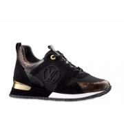 Кроссовки женские Louis Vuitton (Луи Виттон) Run Away кожаные Black